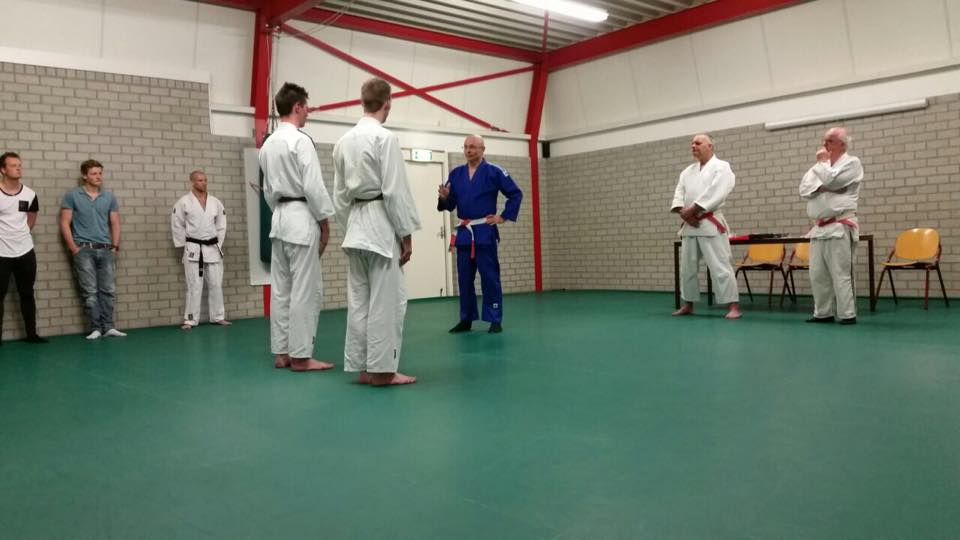 Stephan en Pim 1e Dan Judo