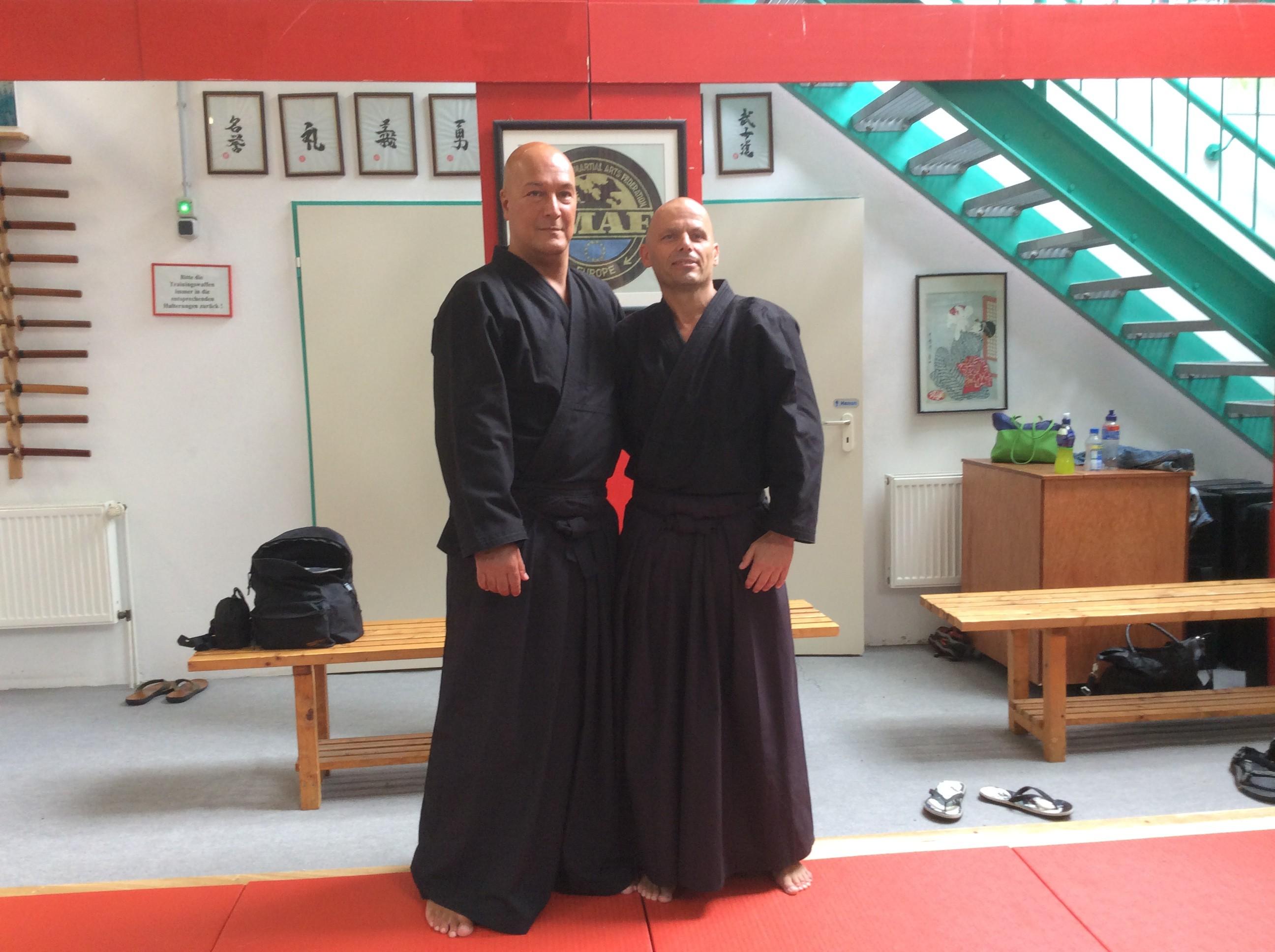 Frans en John 5e Dan Nihon-Jujutsu