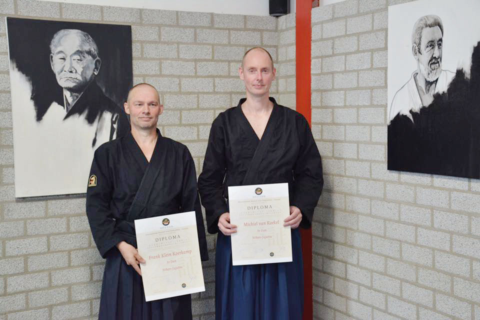 Frank en Michiel 3e Dan Nihon Jiu Jitsu